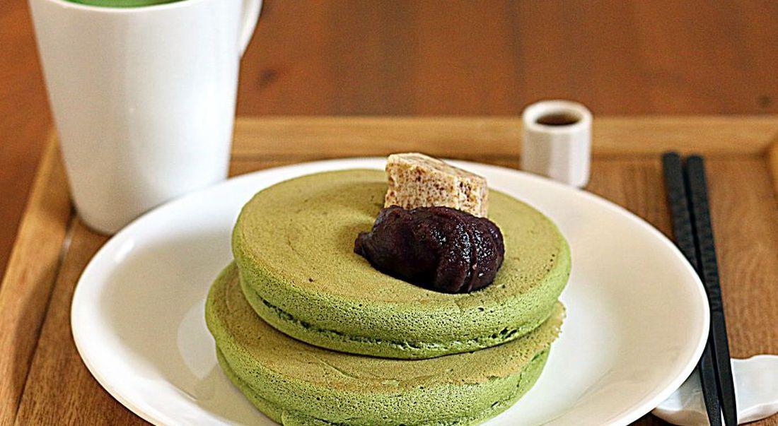 פנקייק מאצ'ה של Umezono Café & Gallery