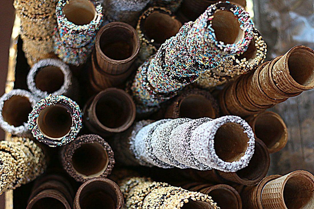 גביעי גלידה ייחודיים שהוצגו ב-Sigep