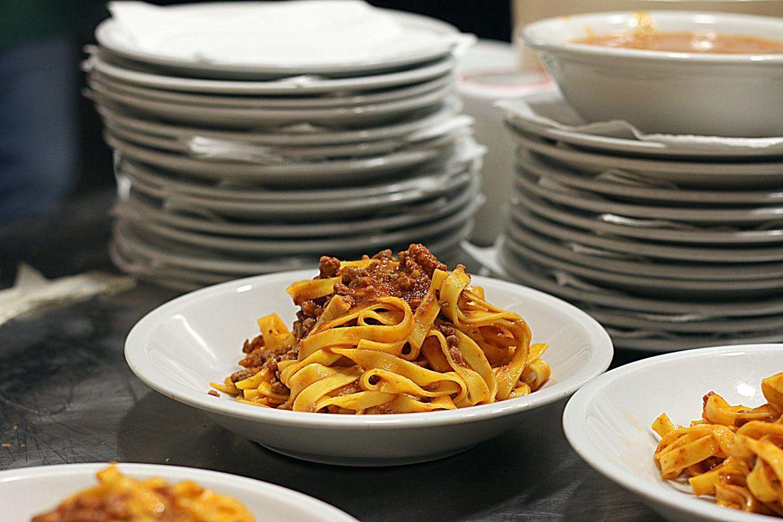 מנת טליאטלה ראגו ב-Osteria dell'Orsa