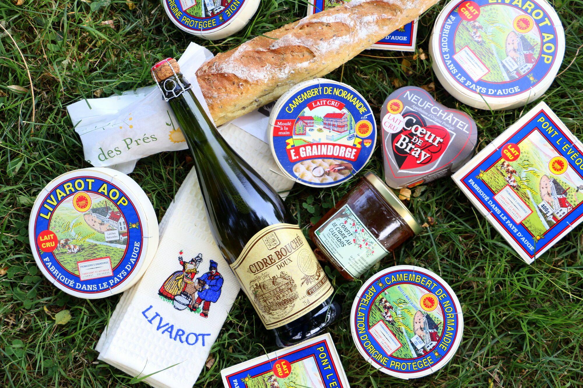 גבינות של E.GRAINDORGE עם קלבדוס ועוד אוכל מקומי