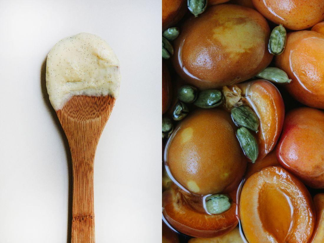מימין: המשמשים. משמאל: הפטיסייר