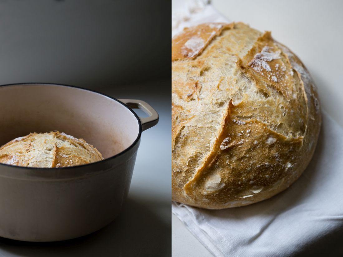 לחם לבן בהתפחה ארוכה - את הכיכר השנייה תנו לשכנים
