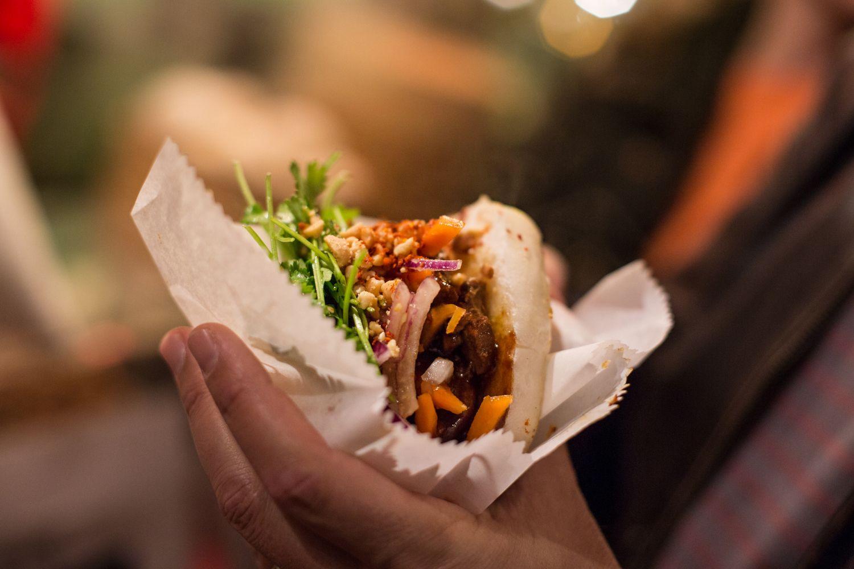 עוד אחת מהמנות בשוק אוכל הרחוב ב-Markthalle