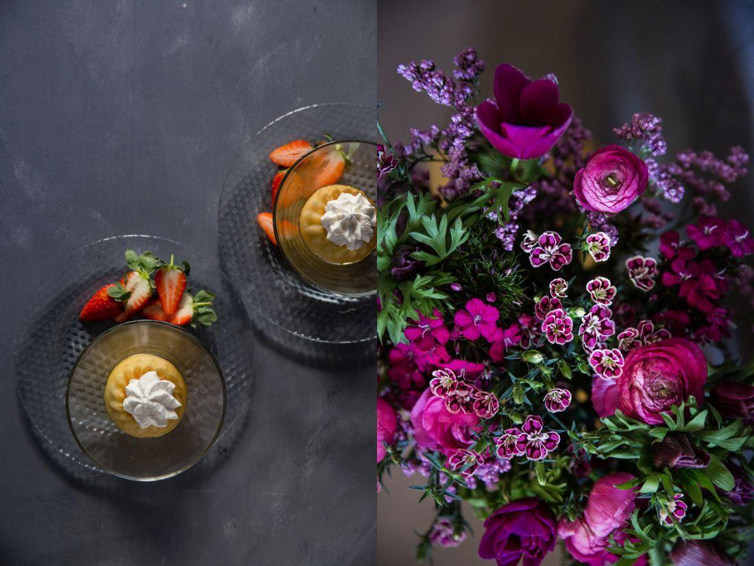 להשלמת האווירה הרומנטית - פרחים וסברינה
