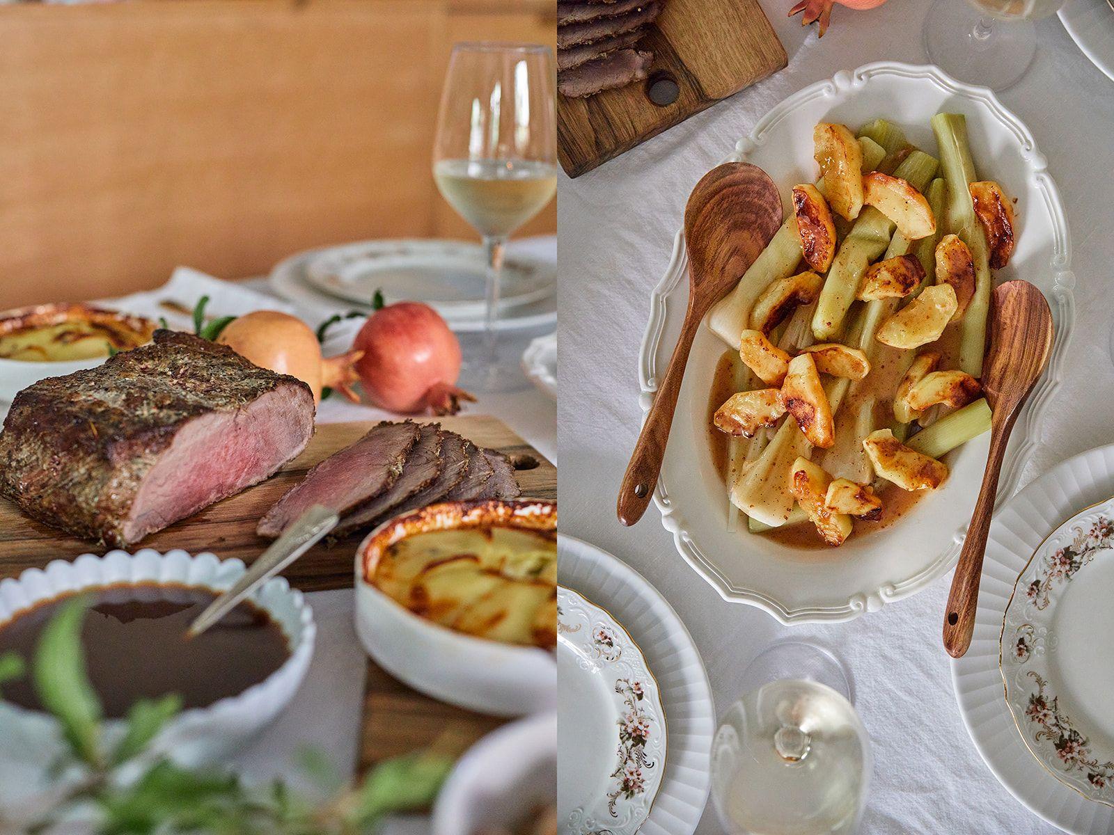 """ארוחת ראש השנה של הדליקטסן: סינטה צלויה, גראטן תפו""""א וכרישה"""