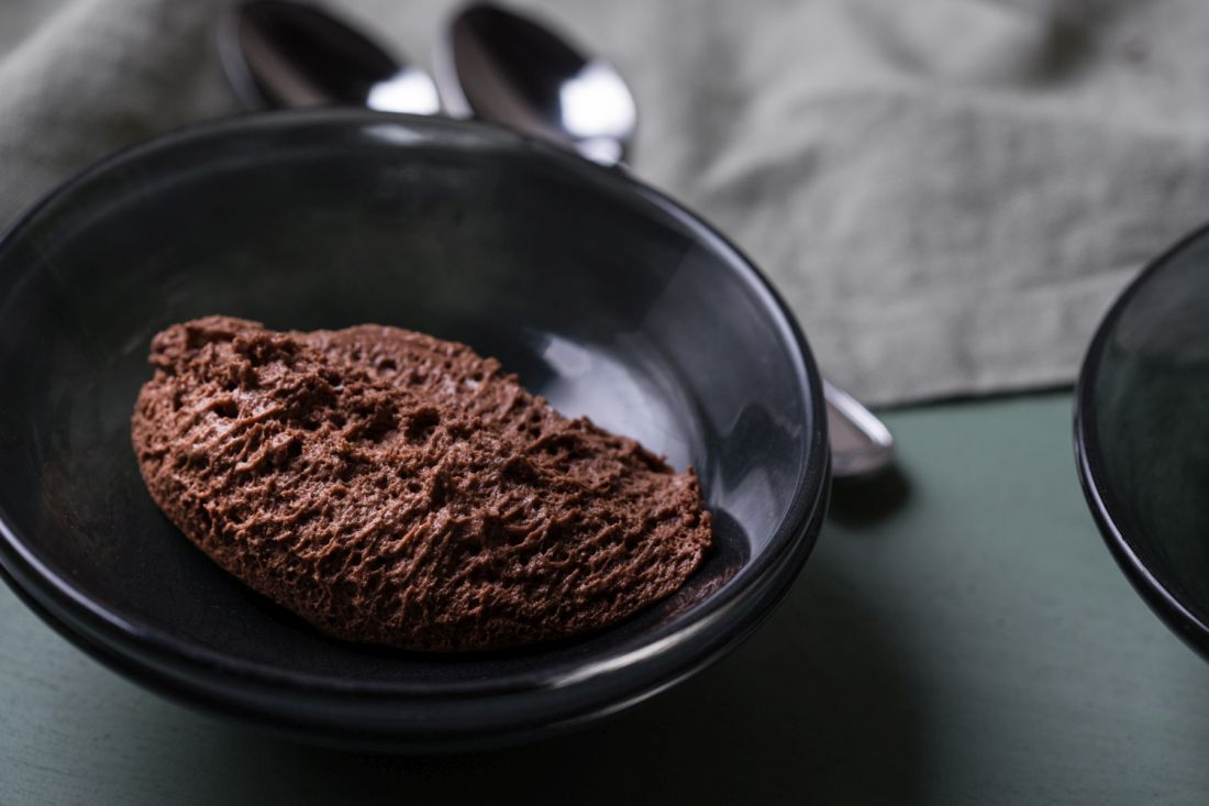מנת מוס שוקולד
