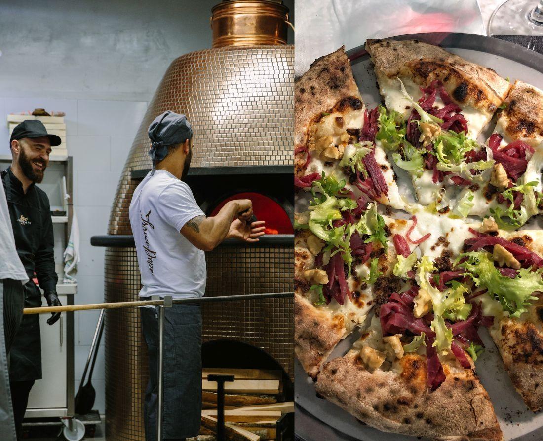 ליד התנור. מראה אופייני בפיצריה בנאפולי